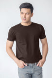 DUDES BASIC BROWN COTTON  T-SHIRT | NEVADA