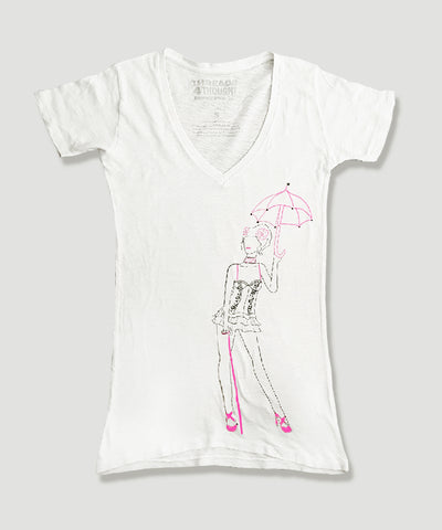 LADIES UMBRELLA PRINTED TEE | T4T