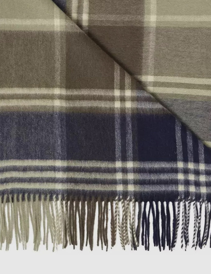 Barbour-scarf-sciarpa-lambswool-cashmere-olive-navy-blu-verde oliva-reverse clothing store-perugia-foligno