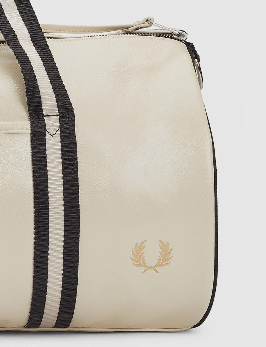 Fred Perry- Classic- Barrel Bag- white-borsa da palestra-lyfestyle-bianco-accessori-L3330- reverse clothing store-perugia-umbria