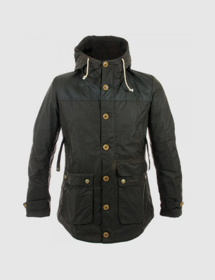 Barbour-parka-verde oliva-waterproof-antipioggia-hunting-caccia-giacca cerata-waxed jacket-reverse clothing store