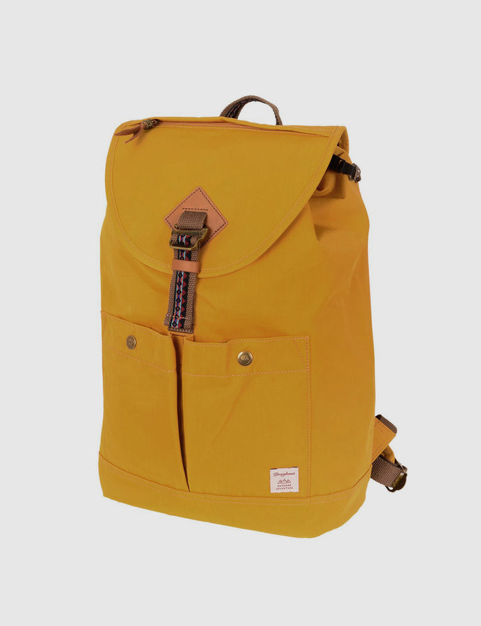 Zaino -Doughnut- Montana Bo-He -Mustard-handmade-Backpack-outdoor-travel-reverse clothing store-perugia-umbria