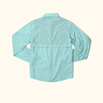 Riverdale Fishing Shirt | Seafoam Plaid