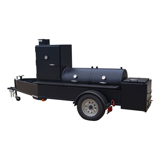 "24"" x 60"" Trailer Pit with Vertical Slow Smoker"