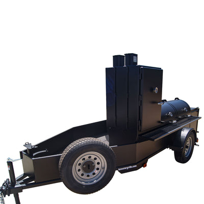 "24"" x 72"" Trailer Pit with Vertical Slow Smoker"
