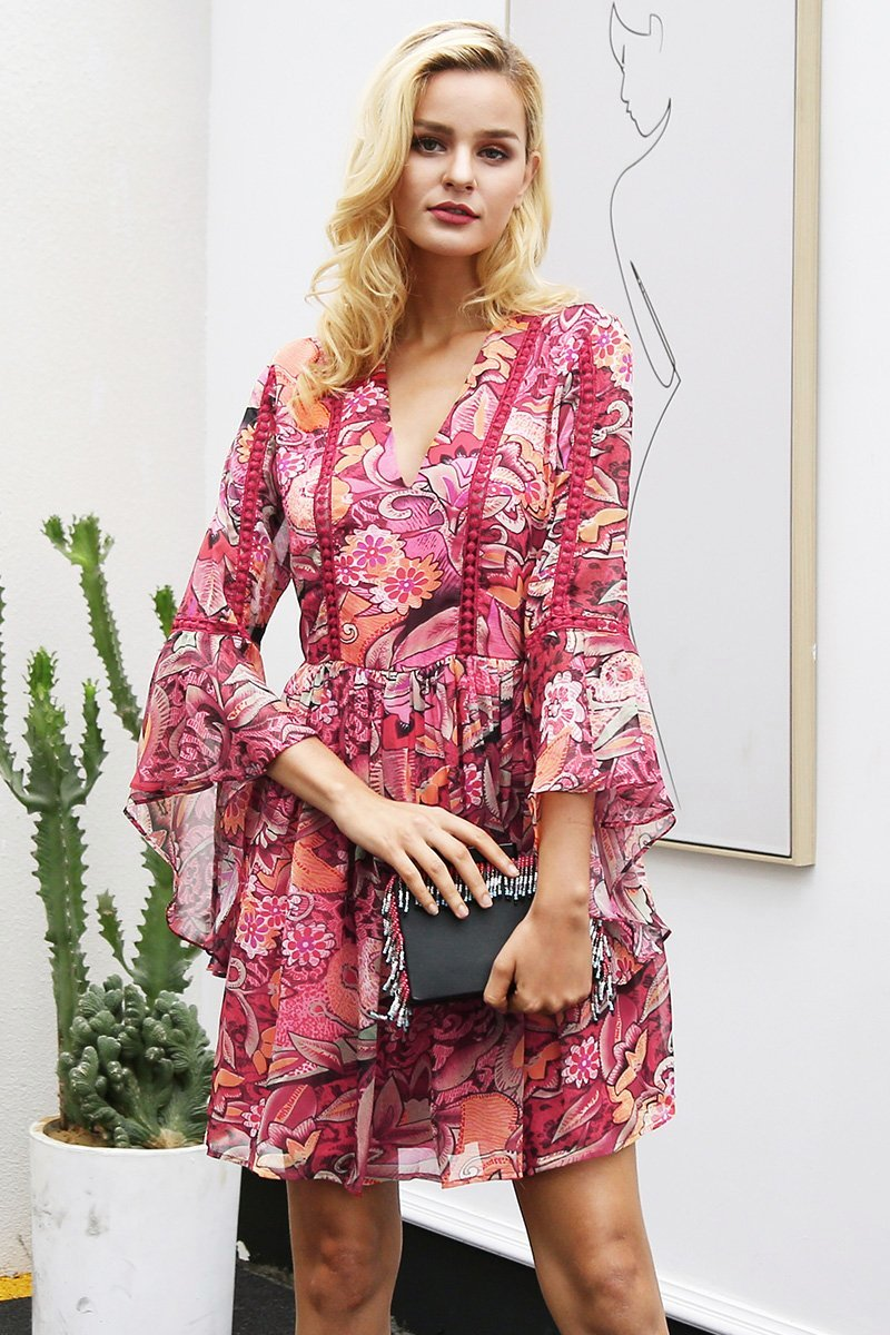 Emilia Floral Chiffon Dress