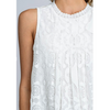 white lace sleeveless women's summer top