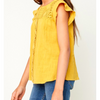 Girls or Tween Knit Crochet Yellow Top Summer