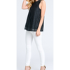 black lace sleeveless women's summer top