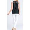 black lace women's sleeveless top summer