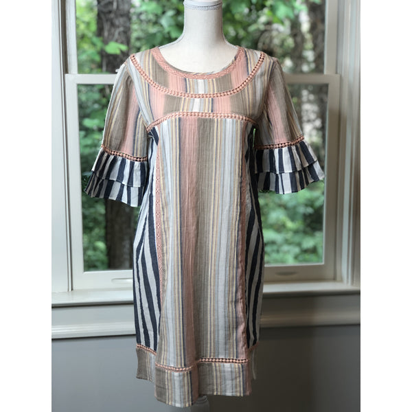 Comtessa Striped Cotton Dress