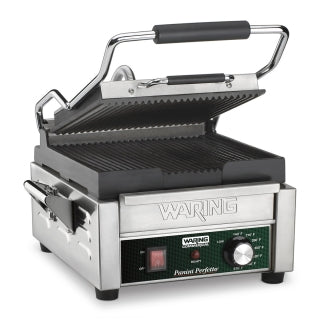 WARING WPG150 Electric Single Sandwich/ Panini Grill, 120V