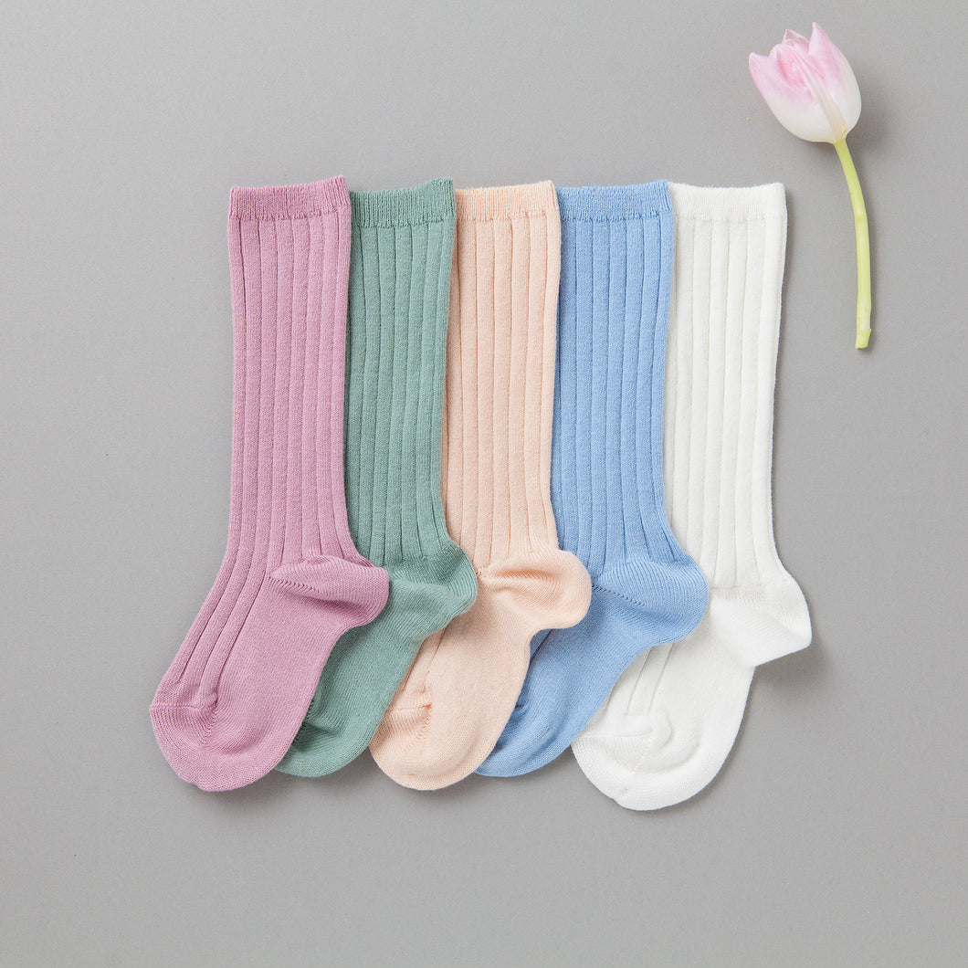 Spring Ribbed Knee Socks Bundle