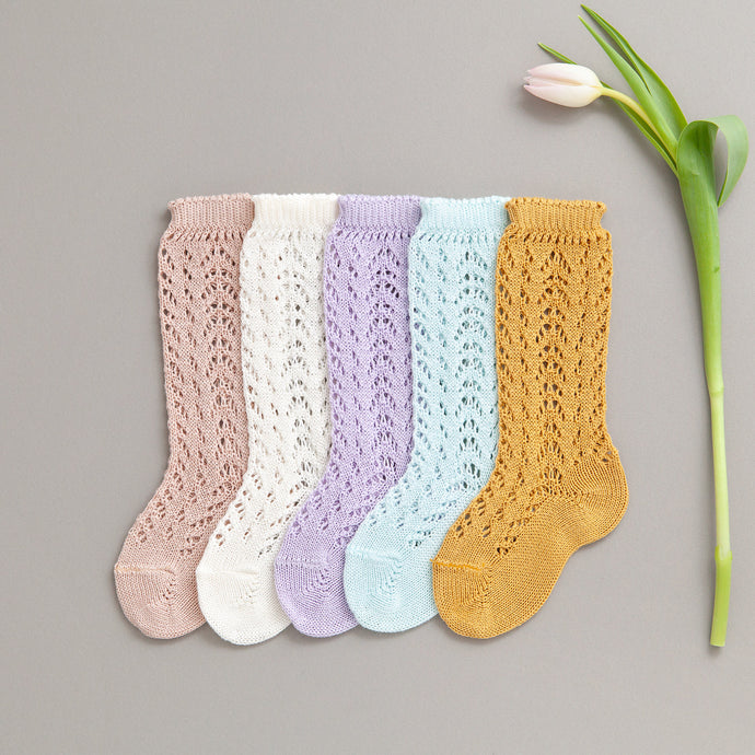 Spring Crochet Knee Socks Bundle