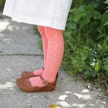 Perle Crochet Tights, Coral