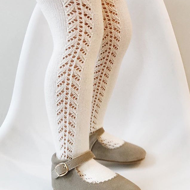 Crochet Tights, Cream