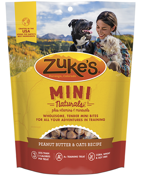 Zukes Peanut Butter Mini Naturals Dog Treats