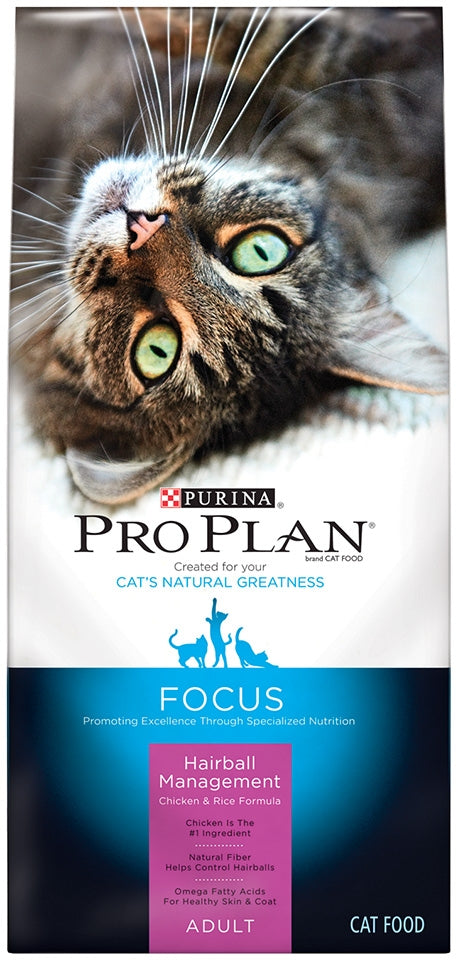 Purina Pro Plan Focus Adult Hairball Management Chicken and Rice Dry Cat Food