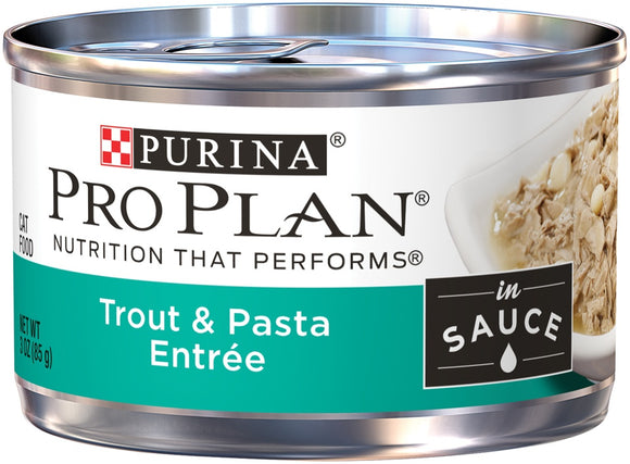Purina Pro Plan Savor Adult Trout and Pasta Entree in Sauce Canned Cat Food
