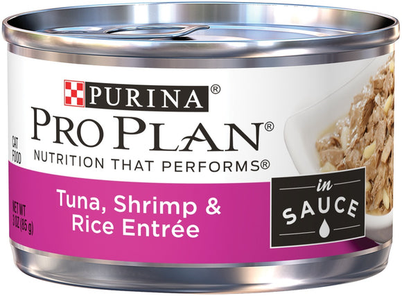 Purina Pro Plan Savor Adult Tuna, Shrimp and Rice in Sauce Entree Canned Cat Food