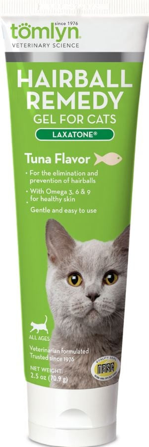 Tomlyn Laxatone Tuna Flavor Hairball Remedy Gel for Cats