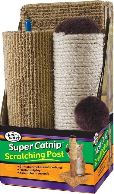Four Paws Super Catnip Carpet & Sisal Scratching Post