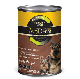 Avoderm Revolving Menu LID Grain Free Beef Recipe Adult Canned Dog Food