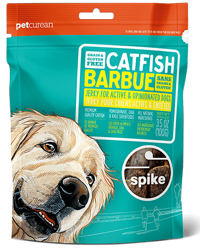 Petcurean Spike Grain Free Catfish Jerky for Dogs