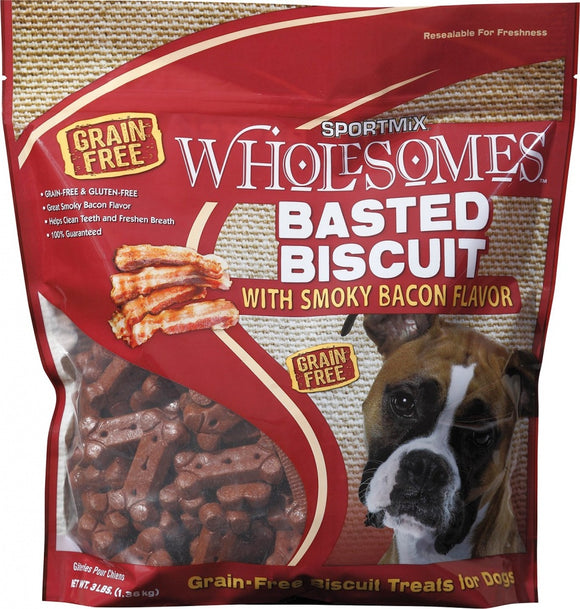 SPORTMiX Wholesomes Gourmet Biscuits with Smoky Bacon Flavor Grain Free Dog Treats