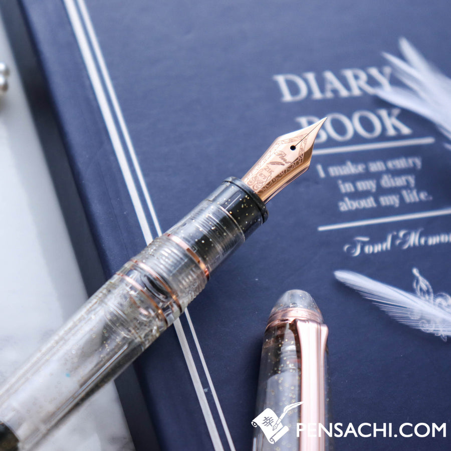 SAILOR Limited Edition 1911 Large (Full size) Realo Demonstrator Fountain Pen - Sky Creation - PenSachi Japanese Limited Fountain Pen