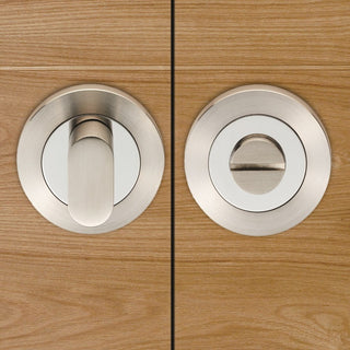 Image: Steelworx SWT1016 Bathroom Thumb Turn & Release - 3 Finishes