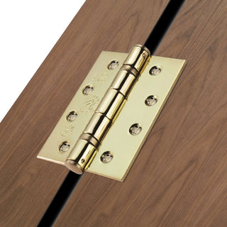 Image: 102x76mm Electro Brass: Electro Brass Grade 13 Hinge, also suits fire doors.