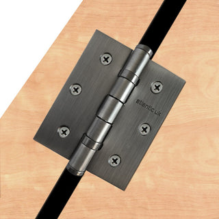 Image: 76mm x 64mm x 2.5mm Ball Bearing Hinge - 1 Pair - 10 Finishes