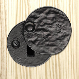 Image: Antique Black Ludlow LF5546 Round Covered Escutcheon - Standard Profile - Size 40mm