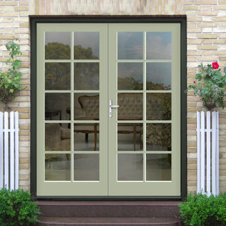 Image: Made to Order Exterior 10 Pane Door Pair - Toughened Double Glazing