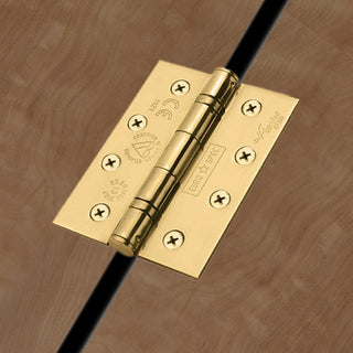 Image: 102x76mm Stainless Brass Stainless Brass Class 13 Hinge, also suits fire doors.