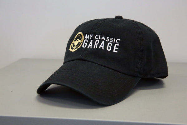 MCG Black Cotton Twill Cap - Front