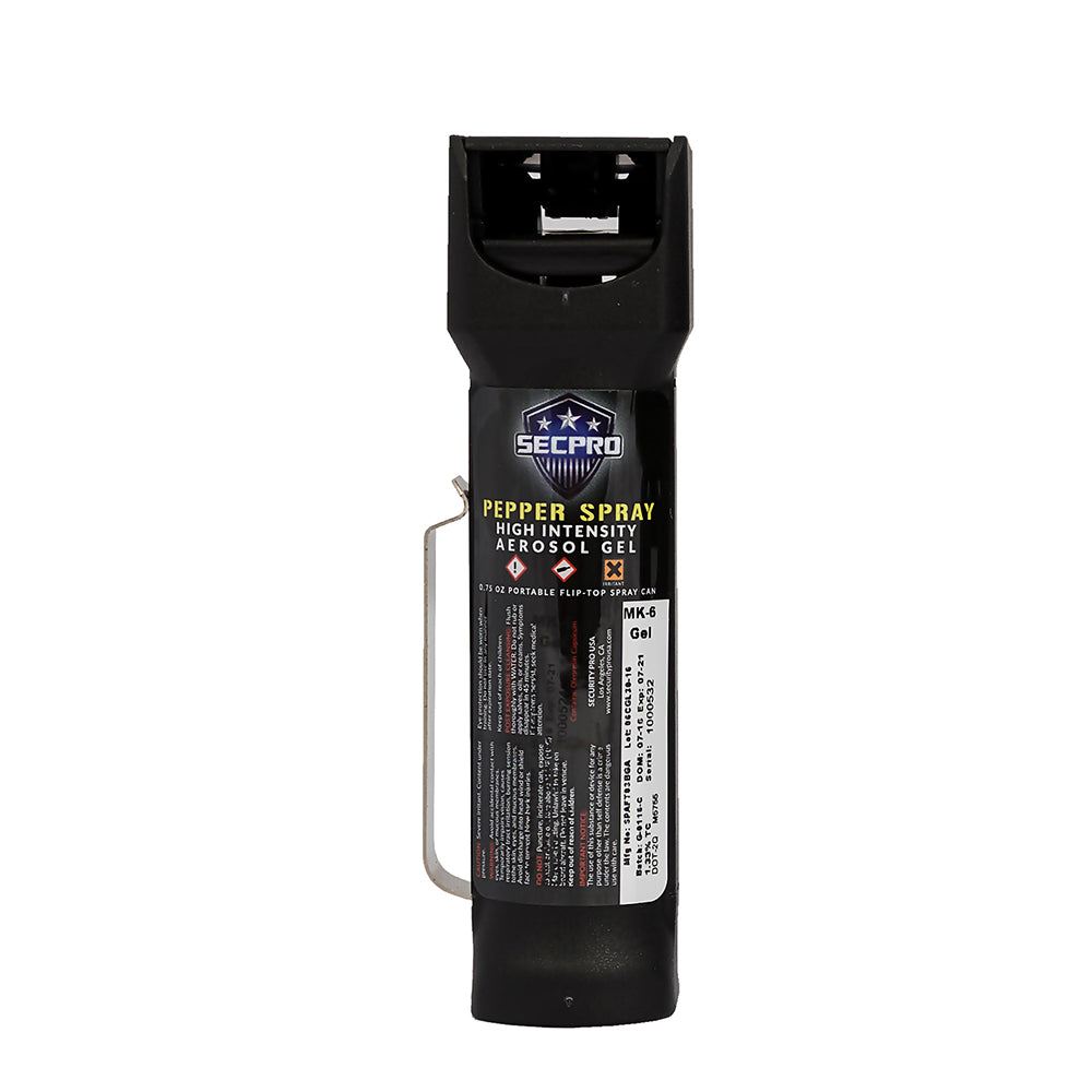 SecPro Ballistic Stream OC Pepper Spray Gel - Level III - 0.75 oz.