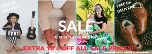 Closing down Sale on leather baby shoes, toddler backpacks and bamboo muslins