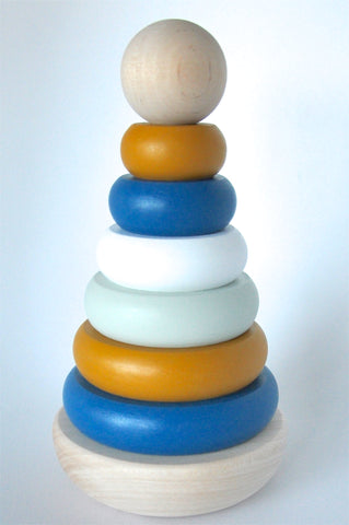 wooden toys - stacking rings - wood toys for babies - quality wooden toys - baby play - childrens wooden toys