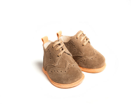 George Suede Baby Brogues Shoes - Suzemu