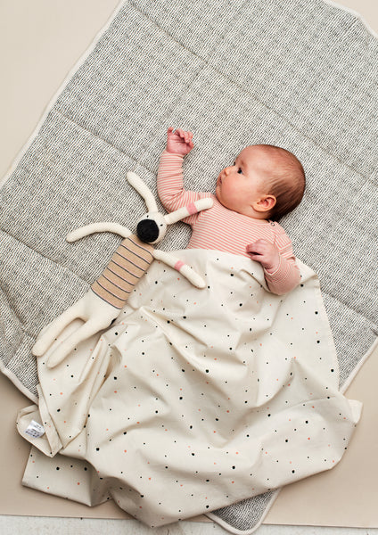 Home By Door - Printed Organic Cotton Playmat - Cot Blankets - Suzemu