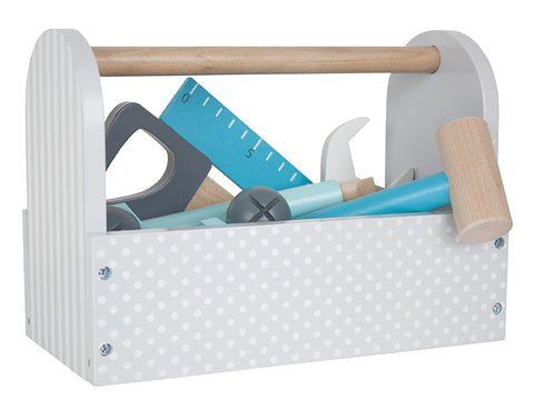 Wooden Toolbox - Grey