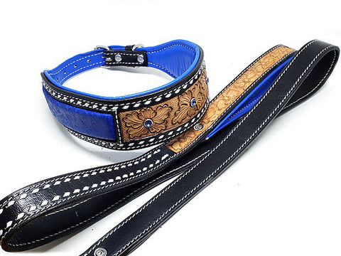 Country Roads Leather Leash