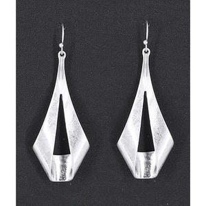 Silver Trendy Teardrop Dangle Earrings For Women