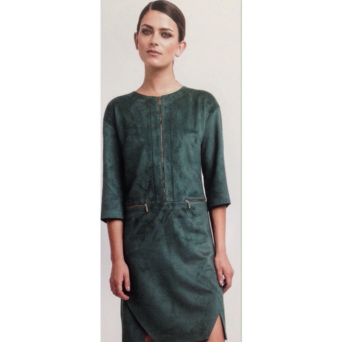 Green Suede Shift Dress
