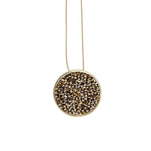 Samantha Adjustable Necklace Open Gold Plating