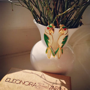 Eleonora Varini - parrot earrings