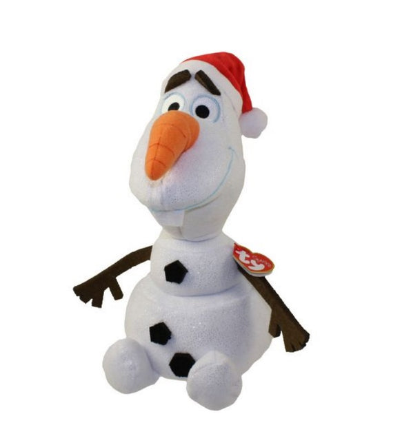 Ty Disney Frozen Olaf Beanie Buddy with Santa Hat
