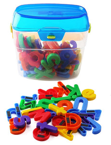 EduKid Toys 72 MAGNETIC LETTERS & NUMBERS in CANISTER